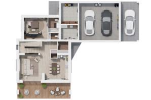 КМ Ozon village: планування 3-кімнатної квартири 251.66 м²