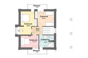 КМ Praud Hills (Прауд Хіллс): планування 4-кімнатної квартири 124 м²
