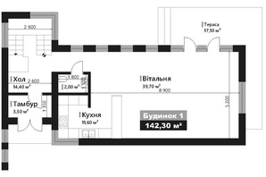 КМ Renaissance: планування 4-кімнатної квартири 142.3 м²