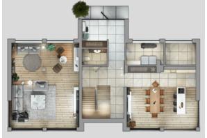 КМ River Garden: планування 6-кімнатної квартири 325.8 м²