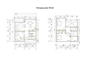 КМ River Garden: планування 4-кімнатної квартири 139 м²