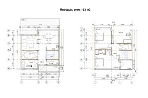 КМ River Garden: планування 4-кімнатної квартири 153 м²