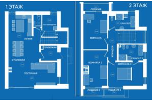 КМ River Island: планування 1-кімнатної квартири 170 м²