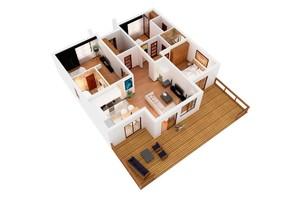 КМ Рославичі: планування 3-кімнатної квартири 119.4 м²