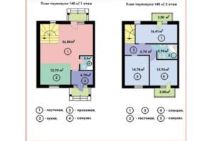 КМ Sun Sity: планування 4-кімнатної квартири 140 м²