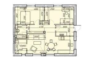 КМ Світлий Совіньон: планування 2-кімнатної квартири 74 м²