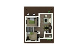 КМ Удачино: планування 2-кімнатної квартири 98 м²