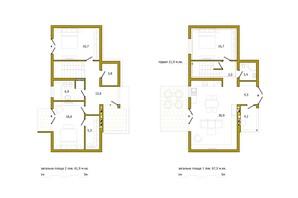КП Сокільники: планування 4-кімнатної квартири 129.4 м²