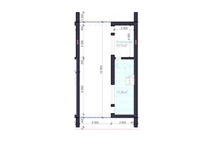 Клубний будинок на Бєлгородській: планування 5-кімнатної квартири 236 м²