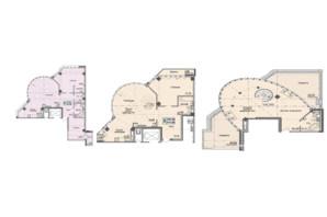 Клубний будинок вул. Малевича 48: планування 3-кімнатної квартири 124.82 м²