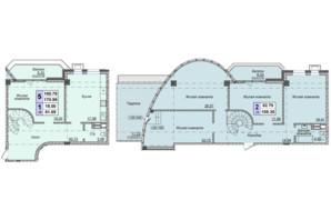Клубний будинок вул. Малевича 48: планування 3-кімнатної квартири 170.89 м²