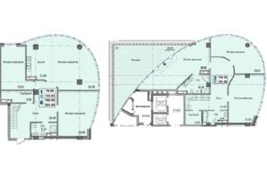 Клубний будинок вул. Малевича 48: планування 5-кімнатної квартири 293.59 м²