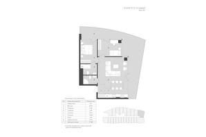Комплекс Апартаментов AURA APART: планировка 2-комнатной квартиры 71.38 м²