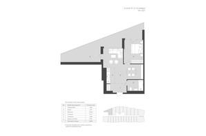 Комплекс Апартаментов AURA APART: планировка 2-комнатной квартиры 56.84 м²