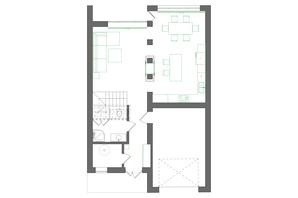 Котеджне містечко на вул. Землеробній: планування 4-кімнатної квартири 180 м²