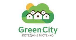 Логотип строительной компании Коттеджный городок «Green city»