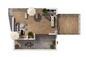 Коттеджный городок Vivere: планировка 3-комнатной квартиры 112 м²