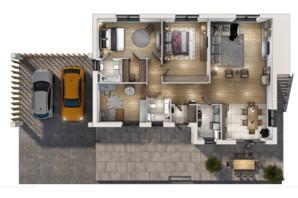 Коттеджный городок Vivere: планировка 4-комнатной квартиры 146 м²