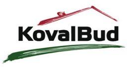 Логотип строительной компании KovalBud