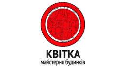 Логотип строительной компании Квітка Майстерня будинків