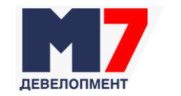 Логотип будівельної компанії М7 Девелопмент