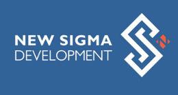 Логотип будівельної компанії New Sigma Development (Нью Сігма Девелопмент)