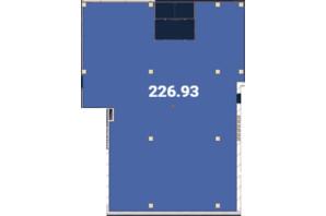 Офіс-центр Avila: планировка помощения 226.93 м²