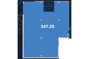 Офіс-центр Avila: планировка помощения 247.25 м²