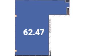 Офіс-центр Avila: планировка помощения 62.47 м²