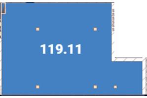 Офіс-центр Avila: планировка помощения 119.11 м²