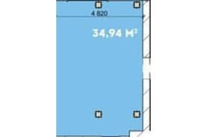 Офіс-центр Avila: планування приміщення 34.95 м²