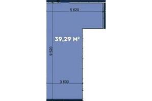 Офіс-центр Avila: планування приміщення 39.29 м²