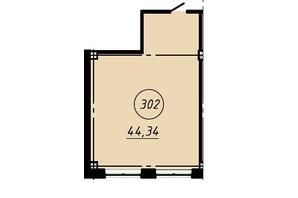 Офіс-центр Бізнес сіті: планування приміщення 44.34 м²