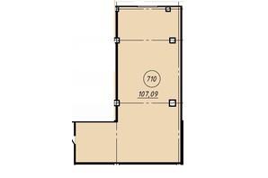 Офіс-центр Бізнес сіті: планування приміщення 107.09 м²