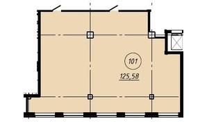 Офіс-центр Бізнес сіті: вільне планування квартири 125.58 м²