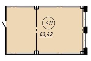 Офіс-центр Бізнес сіті: планування приміщення 63.42 м²