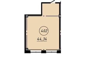 Офис-центр Business City: планировка помощения 44.34 м²