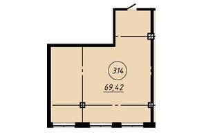Офис-центр Бизнес сити: планировка помощения 69.42 м²