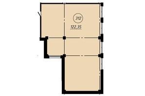 Офис-центр Бизнес сити: планировка помощения 122.35 м²