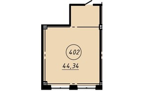 Офис-центр Бизнес сити: планировка помощения 44.34 м²