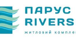 Логотип строительной компании Отдел продаж Парус Riverside