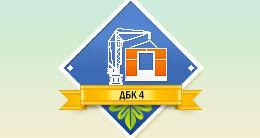 Логотип будівельної компанії ПАТ Домобудівний комбінат №4
