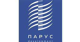 Логотип строительной компании Парус Development