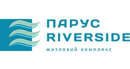Логотип строительной компании Парус Riverside