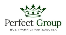 Логотип будівельної компанії Perfect Group (Перфект Групп)