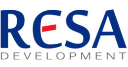 Логотип будівельної компанії RESA development (Реса Девелопмент)