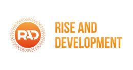 Логотип строительной компании Rise and Development