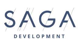 Логотип будівельної компанії SAGA Development (Cага Девелопмент)