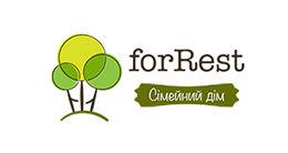 Логотип строительной компании Сімейний дім forRest