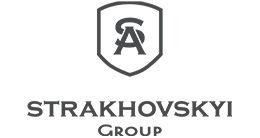 Логотип будівельної компанії Strakhovskyi Group